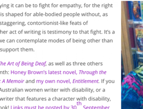 Focus on Australian Women Writers with Disability